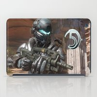 guardians iPad Cases featuring Halo5 Guardians by ezmaya