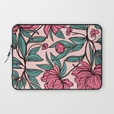 Floral Obsession (pink peonies vintage flowers pattern) Laptop Sleeve
