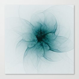 Dark Flower Fractal Canvas Print