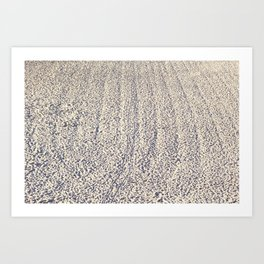 Foot prints in the sand Art Print