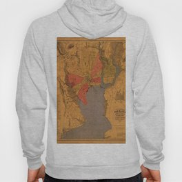Map of New Haven 1877 Hoody