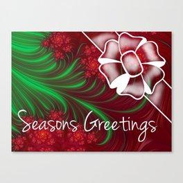 Seasons Greetings Christmas Art Canvas Print