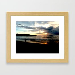Balinese Sunset Framed Art Print