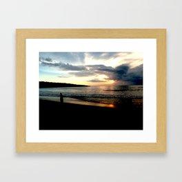Balinese Sunset Framed Art Print