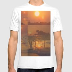 Follow the Sunshine White Mens Fitted Tee MEDIUM