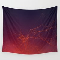 physics Wall Tapestries featuring Sunset gradient connection by AMULET