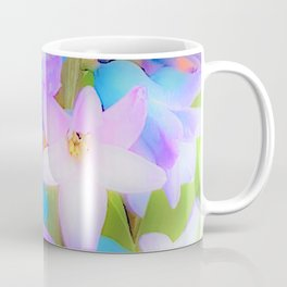 Bouquet in Blue and Pink 3 - enhanced and in blue white and green actually Coffee Mug
