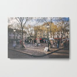 Artists Square in Montmartre, Paris Metal Print
