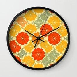 Summer Citrus Slices Wall Clock