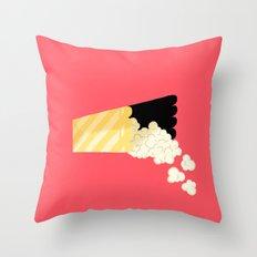 Spilled Popcorn Throw Pillow