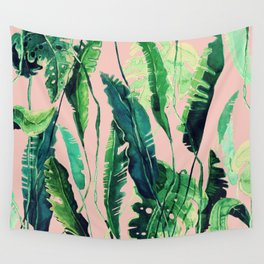 pink tropical vibes Wall Tapestry