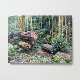 Chopped Trees Metal Print