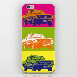 Mustang V8 1967 pop art inspired by A.W iPhone Skin
