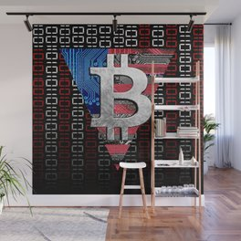 bitcoin USA  Wall Mural