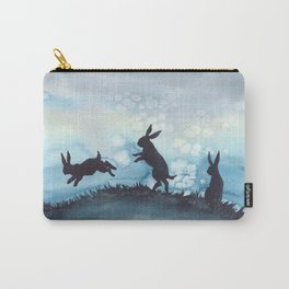 Blue Bunnies Carry-All Pouch