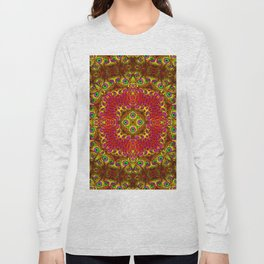 Peacock Feathers - Gold Long Sleeve T-shirt