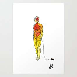 The couturier Art Print
