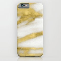 Marble - Gold Marble on White Pattern Slim Case iPhone 6s