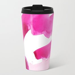 Pink Abstract I Travel Mug