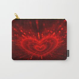 Cupid's Arrows | Valentines Day | Love Red Black Heart Texture Pattern Carry-All Pouch
