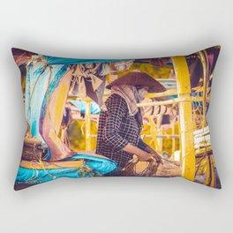 Vietnam boat Rectangular Pillow