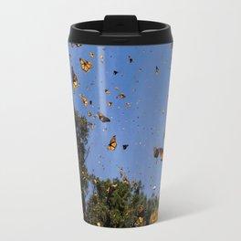 Monarchs butterflies fly Travel Mug