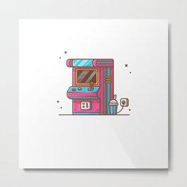 Arcade machine with soda Metal Print