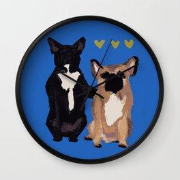 BFF dogs Wall Clock