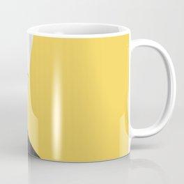 Black and White Marble with Pantone Primrose Yellow Coffee Mug