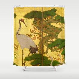 16th Century Japanese Birds & Flowers Shower Curtain