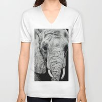 ellie goulding V-neck T-shirts featuring Ellie by Kim Maria Morrow