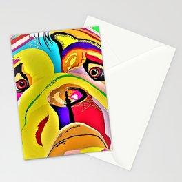Bulldog Close-up Stationery Cards