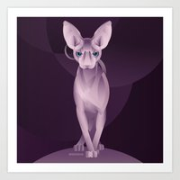 sphynx Art Prints featuring Sphynx by Dezignjk (Justin Kohout)