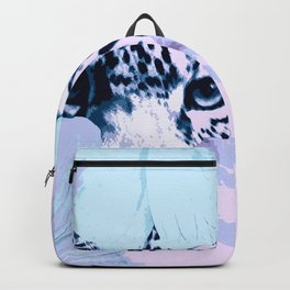 Behind the scenes - big cat hiding behind the flowers - lovely colors Backpack