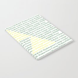 Wisdom Power Courage Notebook