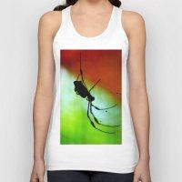 spider Tank Tops featuring spider by lennyfdzz