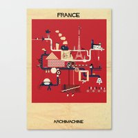 france Canvas Prints featuring France by federico babina