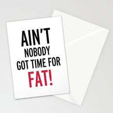 Time For Fat Funny Gym Quote Stationery Cards