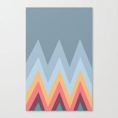 Retro Mountains Canvas Print