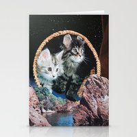 kitty Stationery Cards featuring Kitty by John Turck