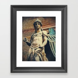 Estatua de San Miguel Framed Art Print