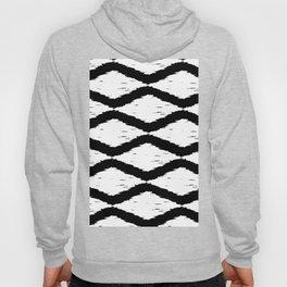 Black and White Tribal Ikat Pattern Hoody