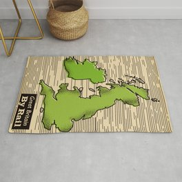 Great Britain By Rail Rug