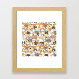 Cats, Kitties and a Spy Framed Art Print