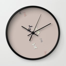 Starry Night - Illustration  Wall Clock