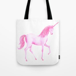 Watercolor Pink Unicorn Tote Bag