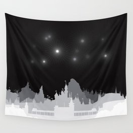 Fireworks at night. Wall Tapestry