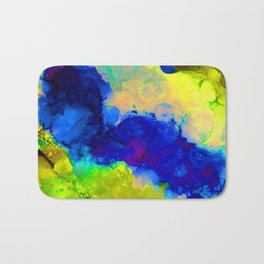 Expression in Blue Bath Mat