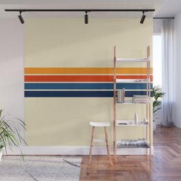 Classic Retro Stripes Wall Mural