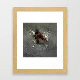 On Ice - Ice Hockey Player Modern Art Framed Art Print